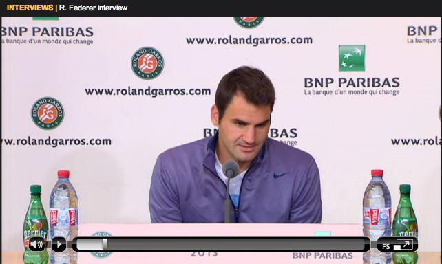 Federer Roland Garros 2013 first round press conference