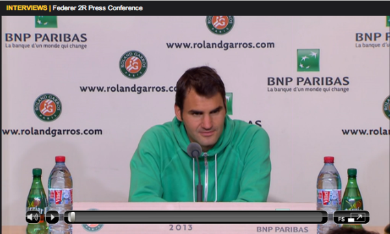 Federer Roland Garros 2013 second round press conference