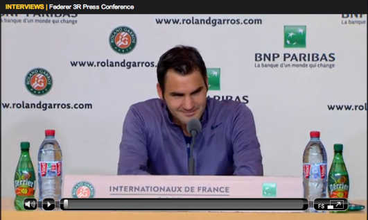 Federer Roland Garros 2013 third round press conference