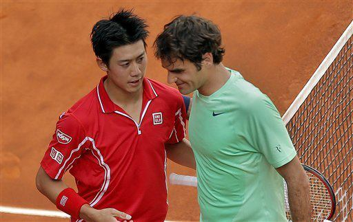 Nishikori upsets Federer in 3 sets
