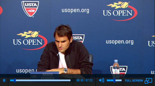 Federer US Open 2013 first round press conference