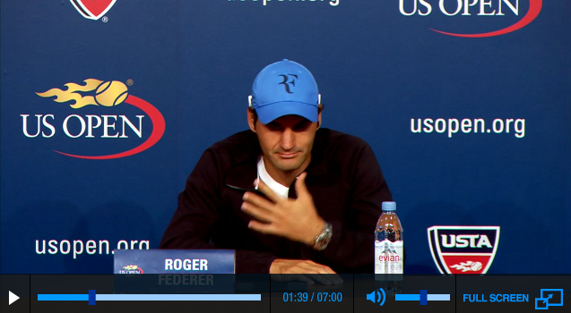 Federer US Open 2013 second round press conference
