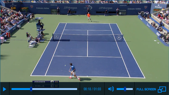 Federer Zemlja US Open 2013 Highlights