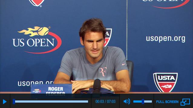 Federer media day US Open 2013 press conference