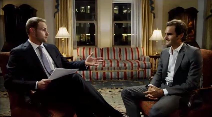Roddick Federer FOX Sports interview