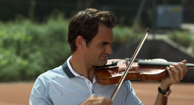 Roger Federer Credit Suisse Racket vs Violin
