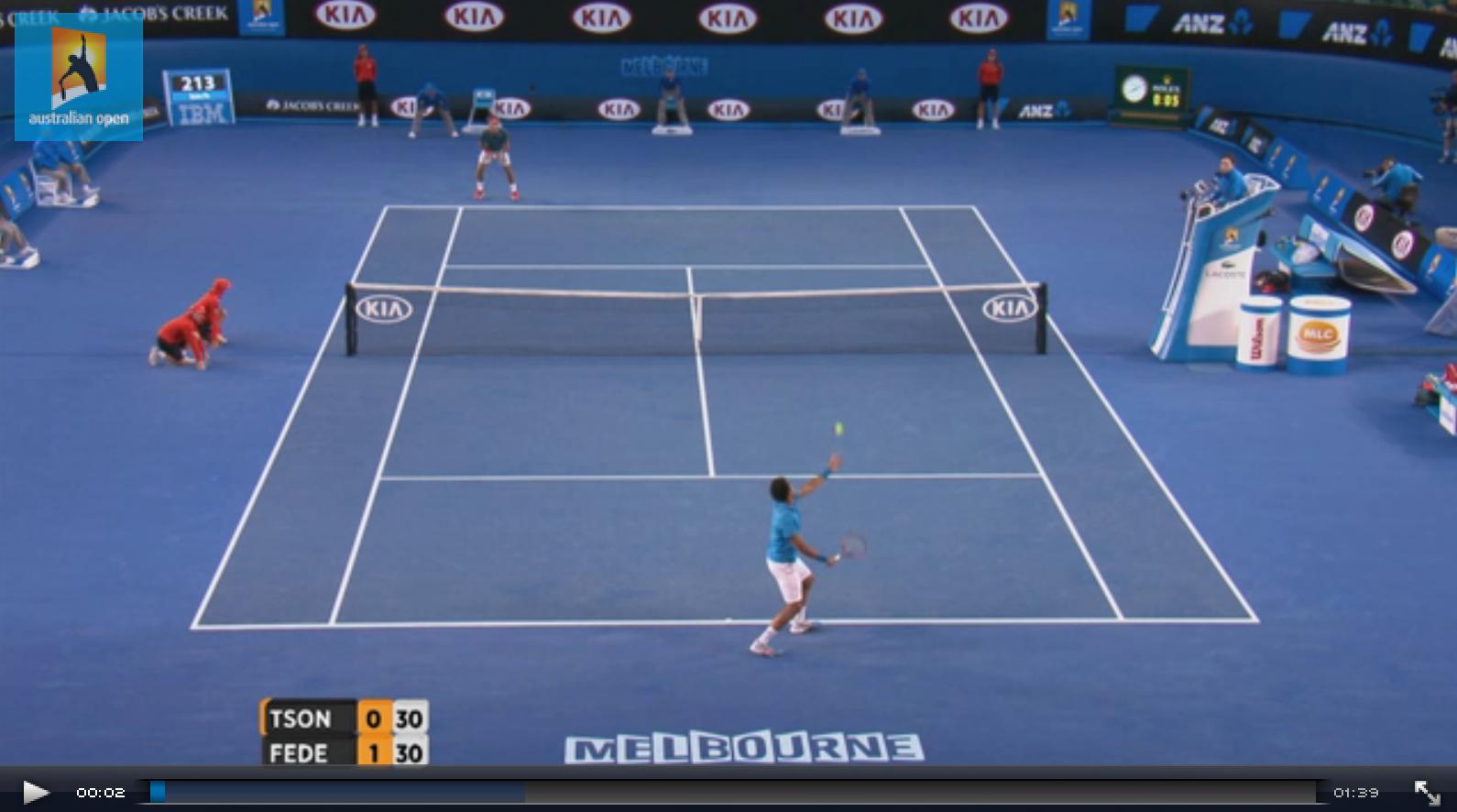 Roger Federer 2014 Australian Open 4th Round Highlights