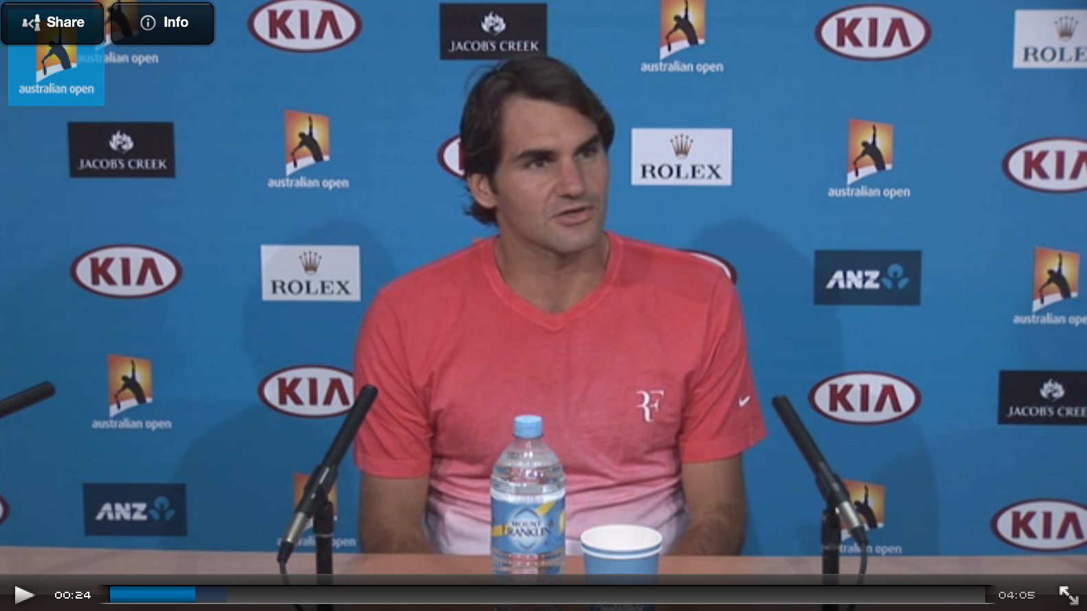 Roger Federer 2014 Australian Open 4th Round Press Conference