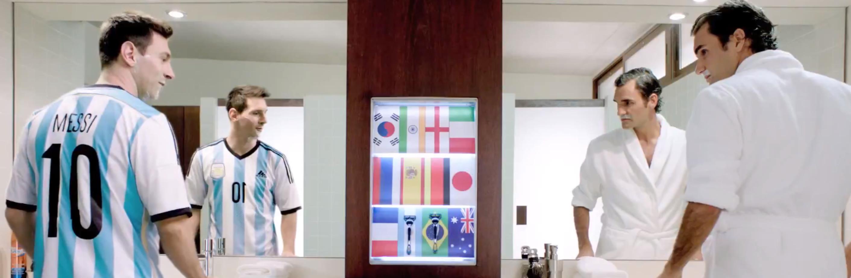Federer Messi Gillette Ad 2014