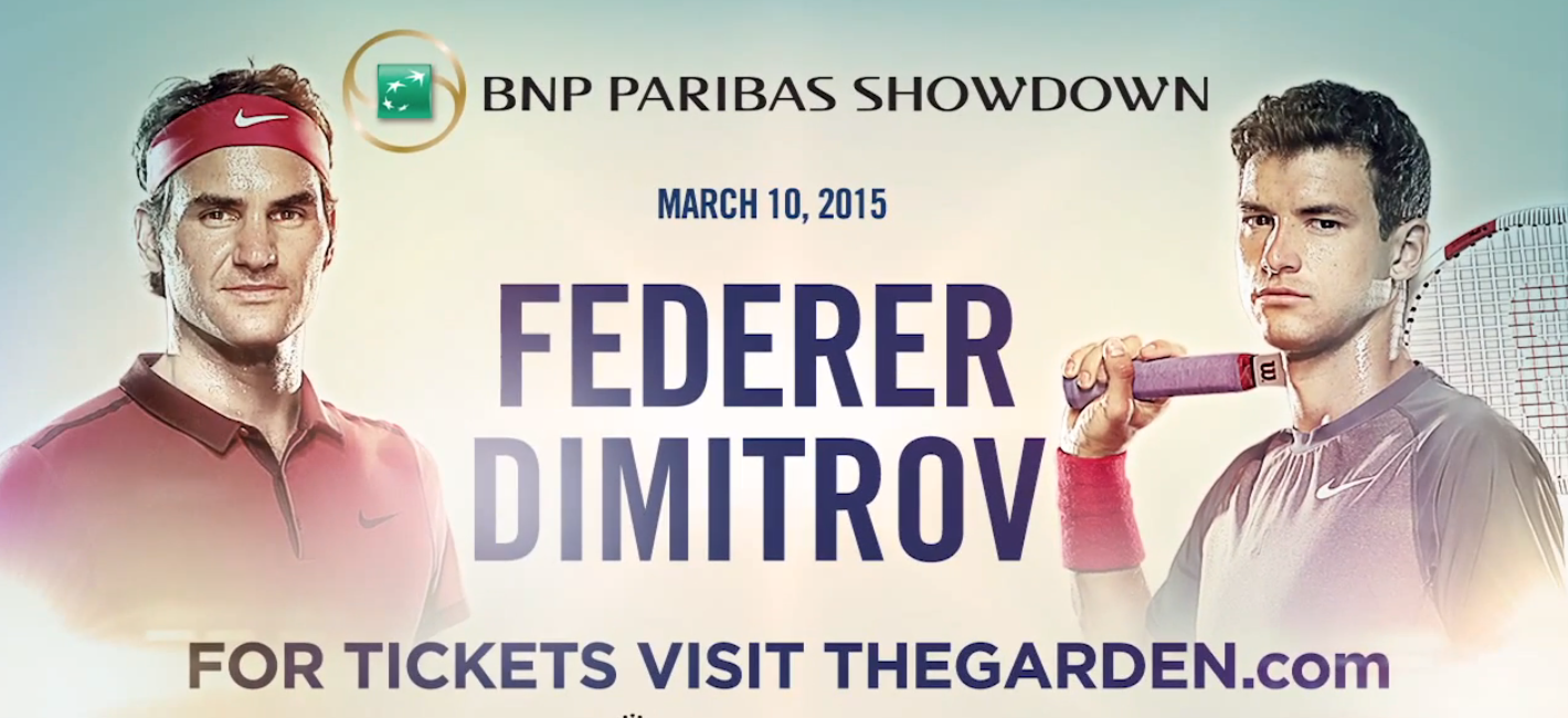 Federer Dimitrov BNP Paribas Showdown 2015
