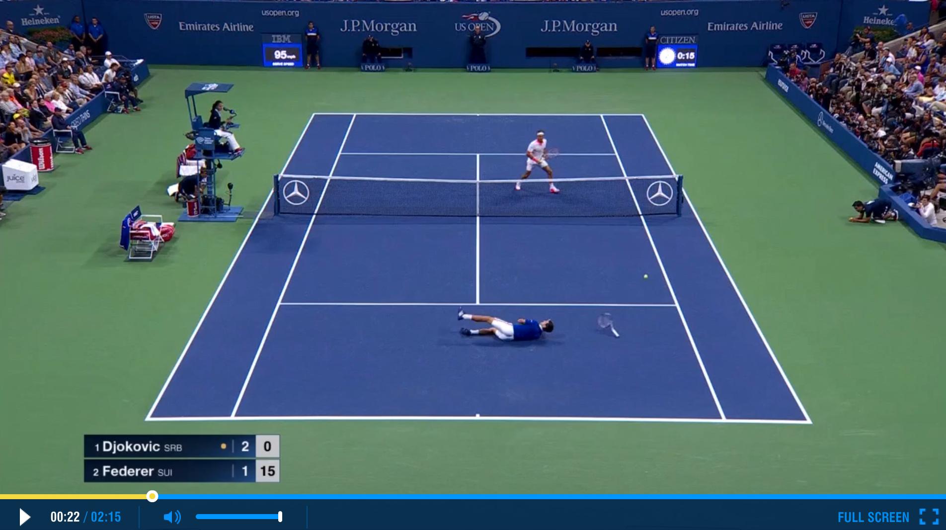 Federer 2015 US Open Final Highlights