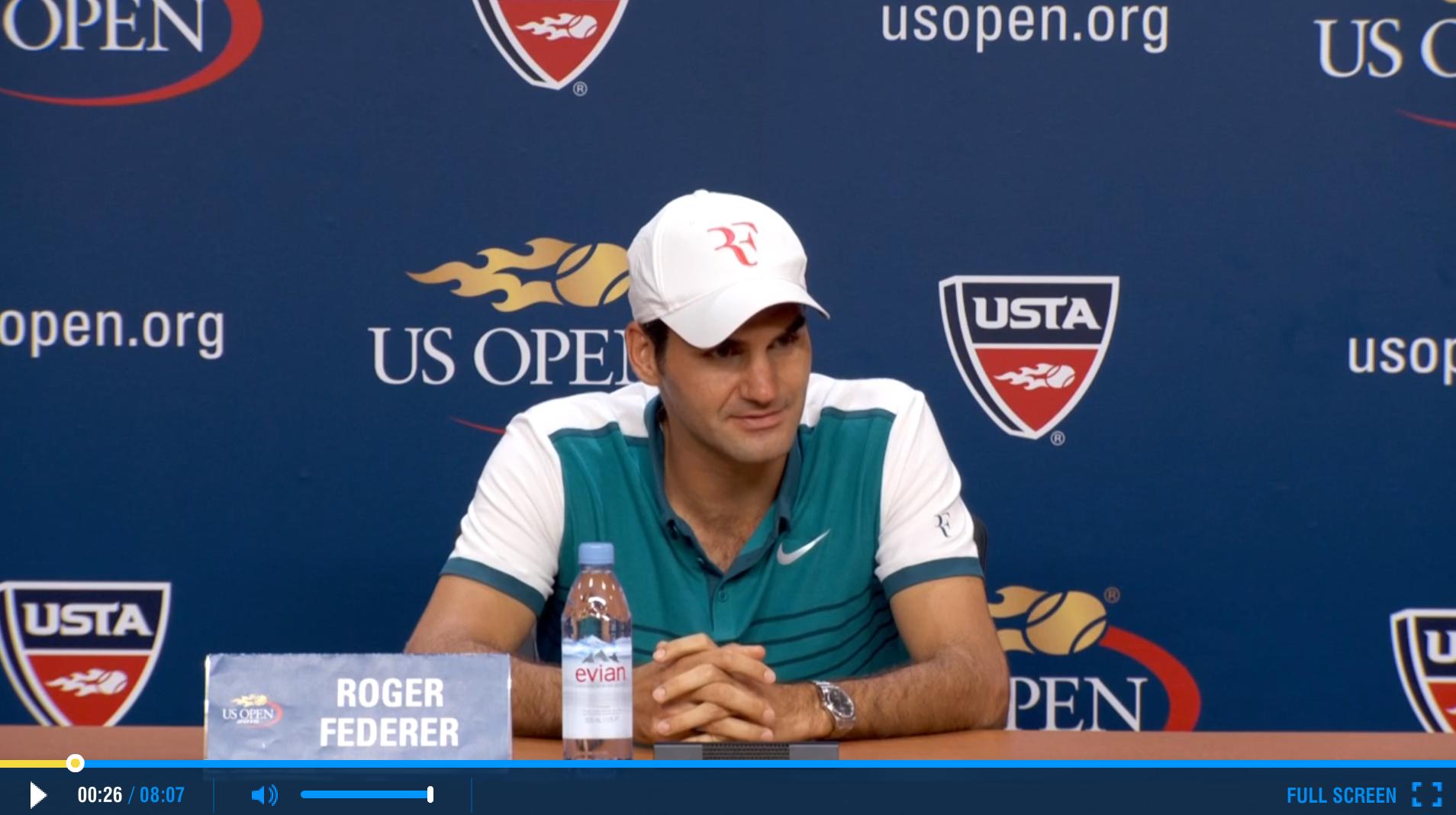 Federer 2015 US Open Final Press Conference