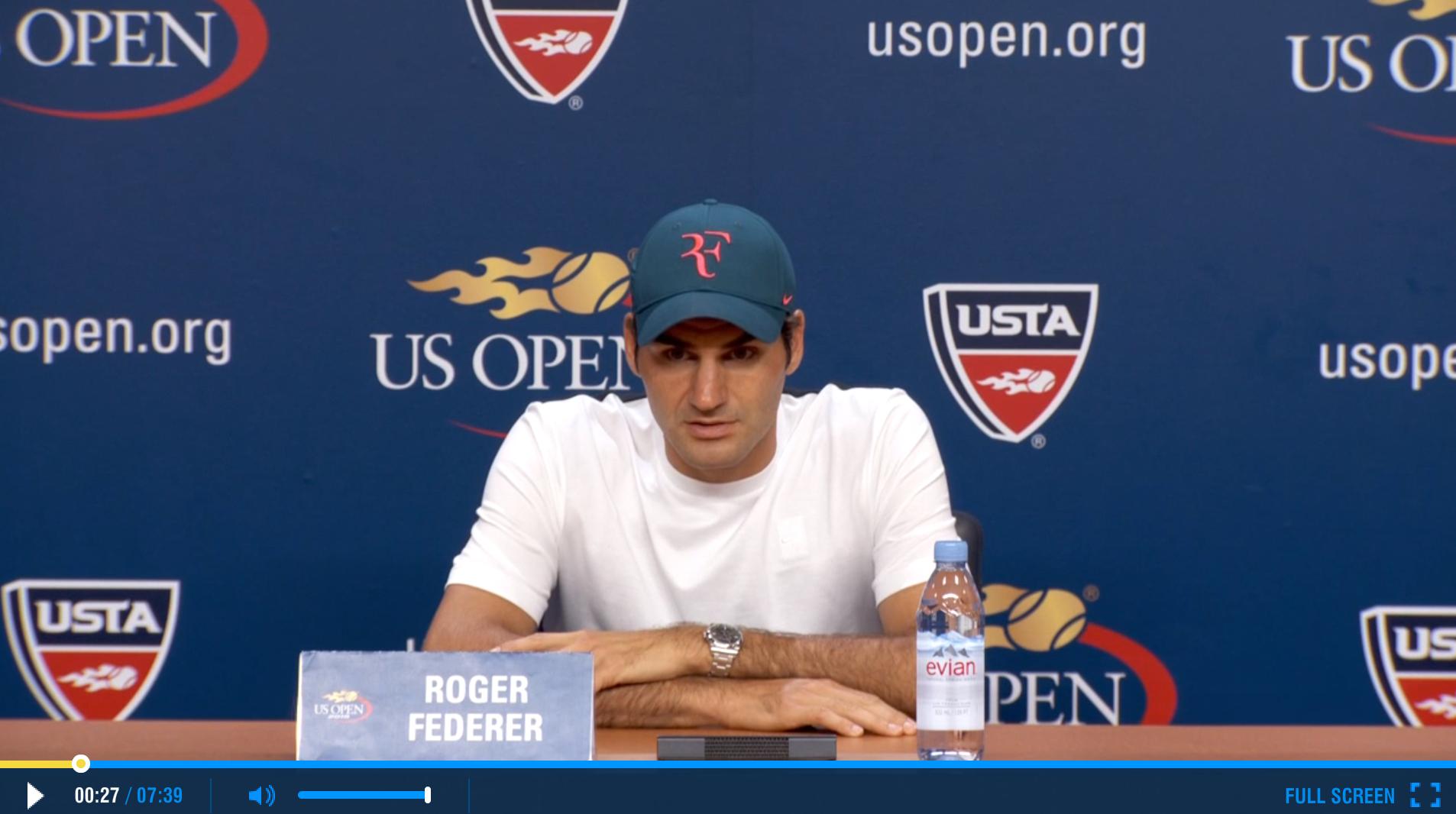 Federer 2015 US Open Quarterfinals Press Conference