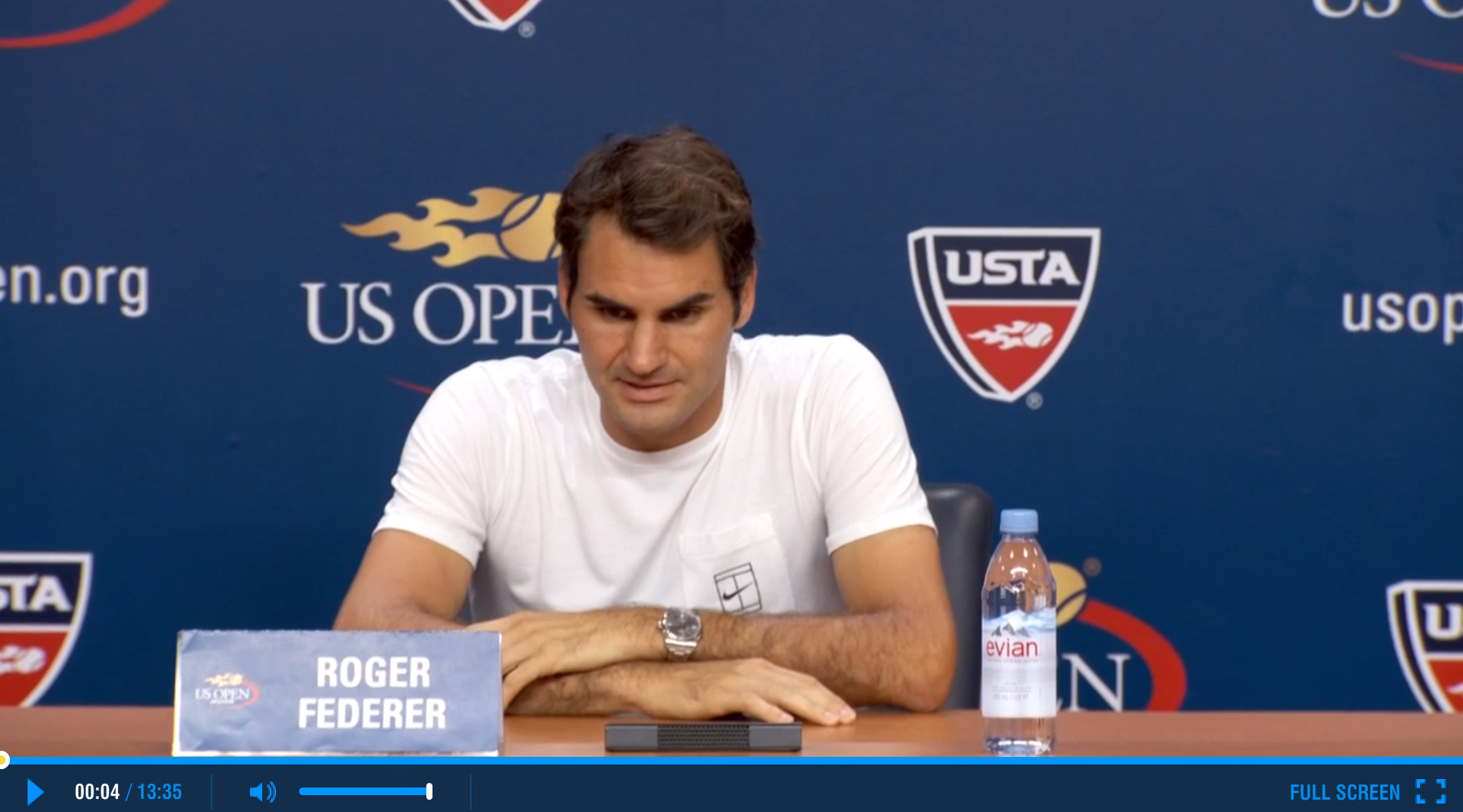 Federer 2015 US Open Semifinals Press Conference