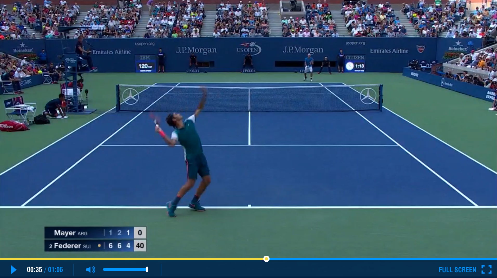 Roger Federer US Open 1st Round Highlights