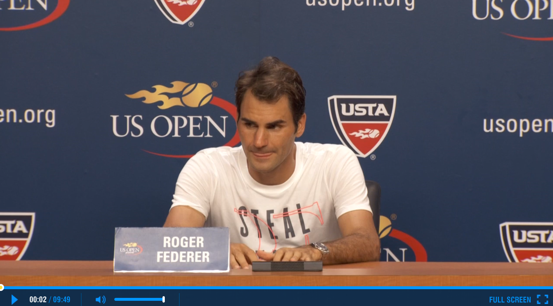Federer US Open 2015 2nd Round Press Conference