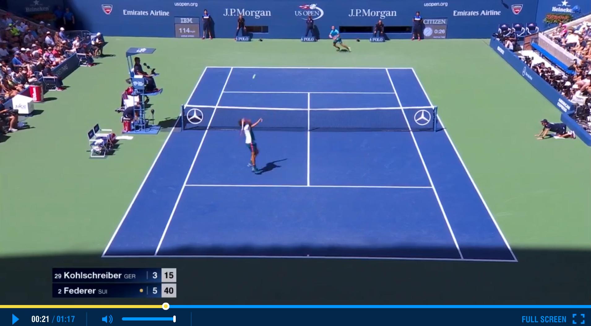 Federer US Open 2015 Third Round Highlights