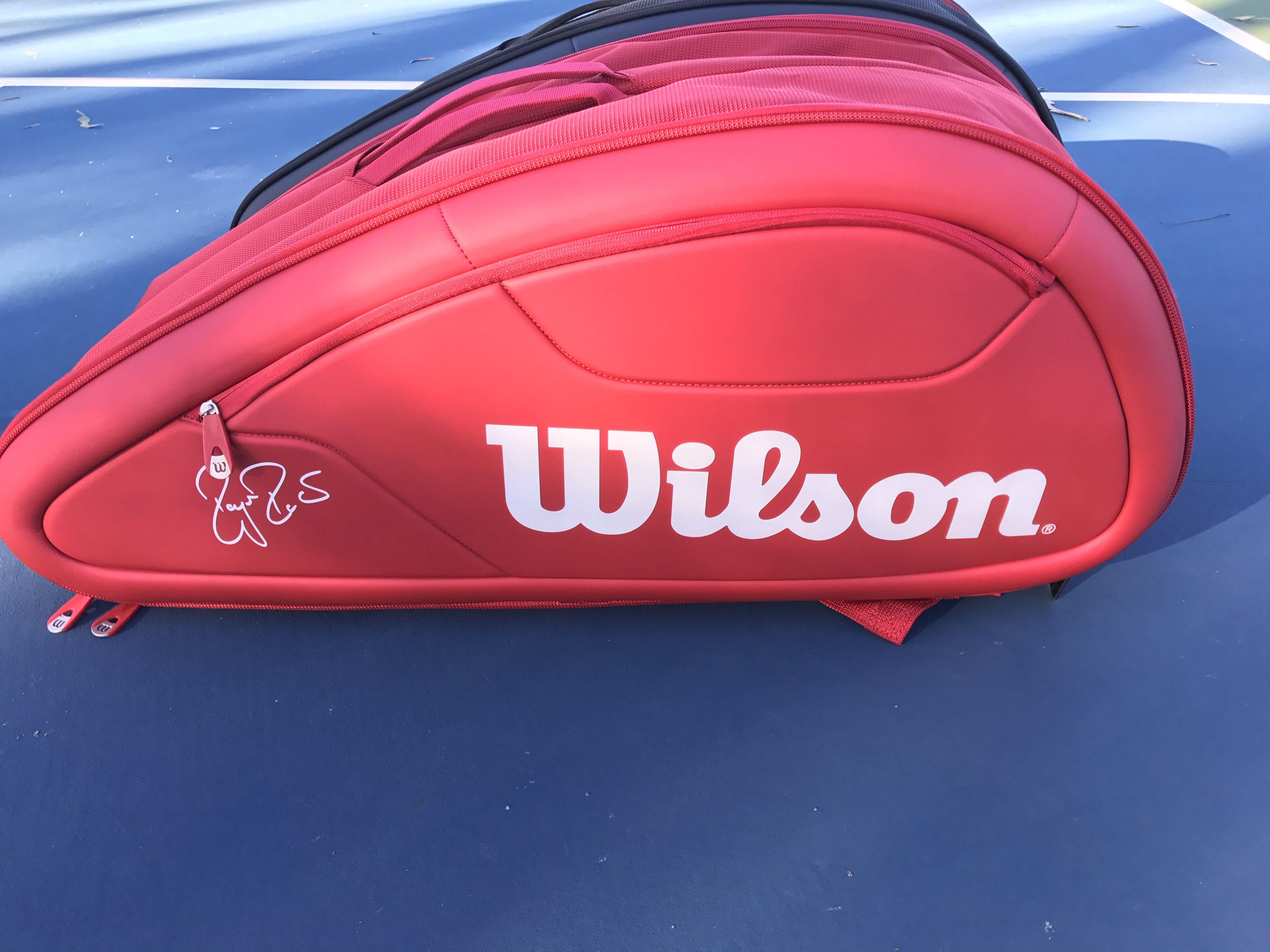 Federer DNA 12 Pack Tennis Bag - Red and Black