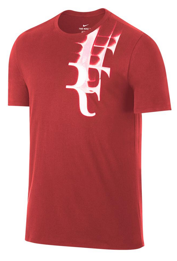 Roger Federer 2017 US Open Nike Outfit - NikeCourt RF US Open Shirt Red