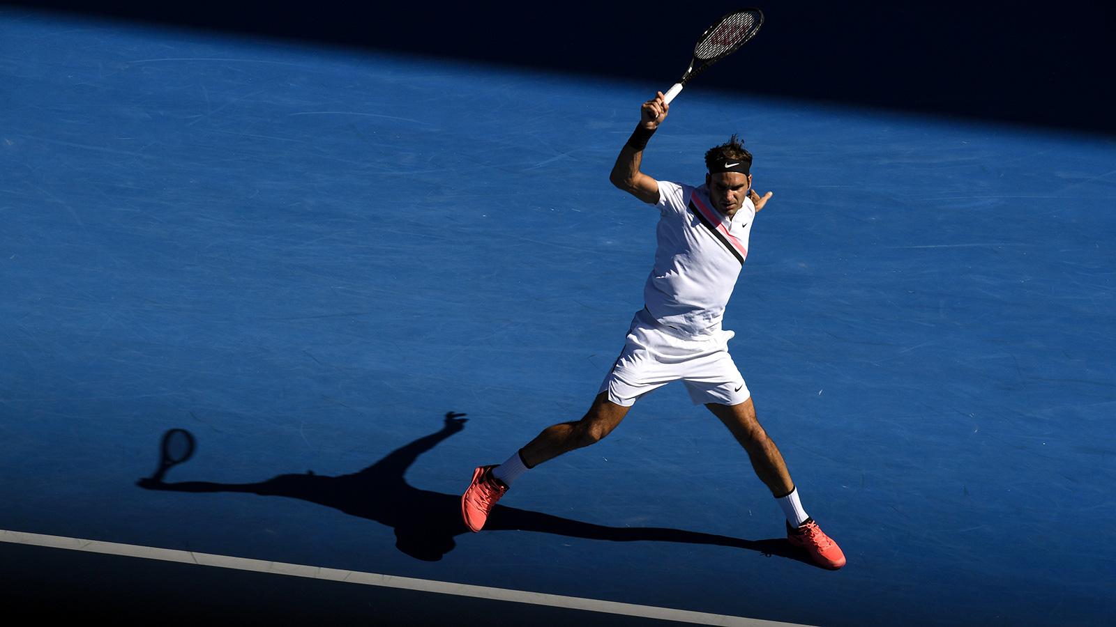 Roger Federer 2018 Australian Open - Federer Advances to 52nd Grand Slam Quarterfinal