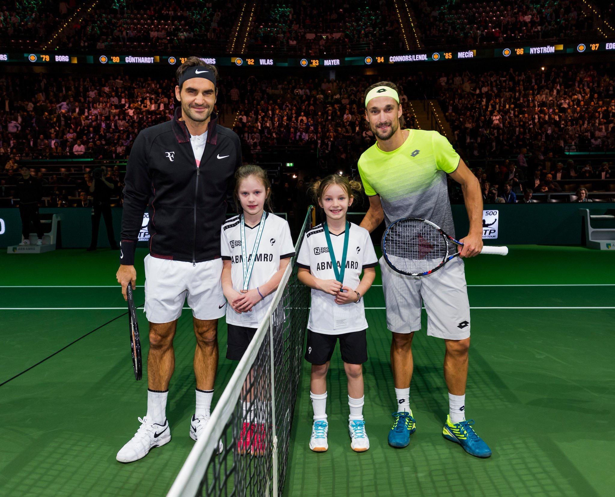 Roger Federer 2018 Rotterdam Open - ABN AMRO World Tennis Tournament - Federer Wins Rotterdam Opener