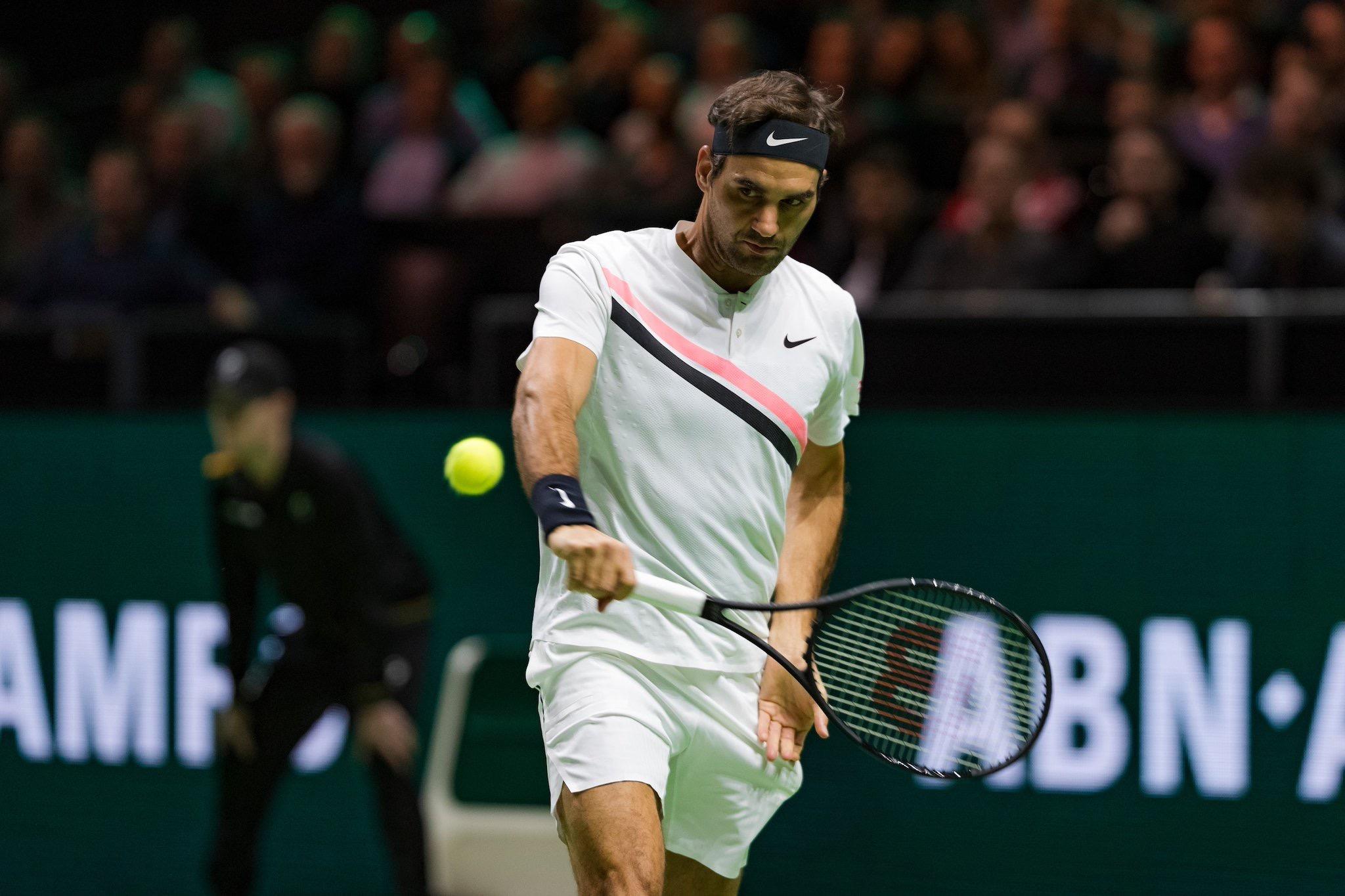 Roger Federer 2018 Rotterdam Open - ABN AMRO World Tennis Tournament - Federer Defeats Kohlschreiber in Rotterdam