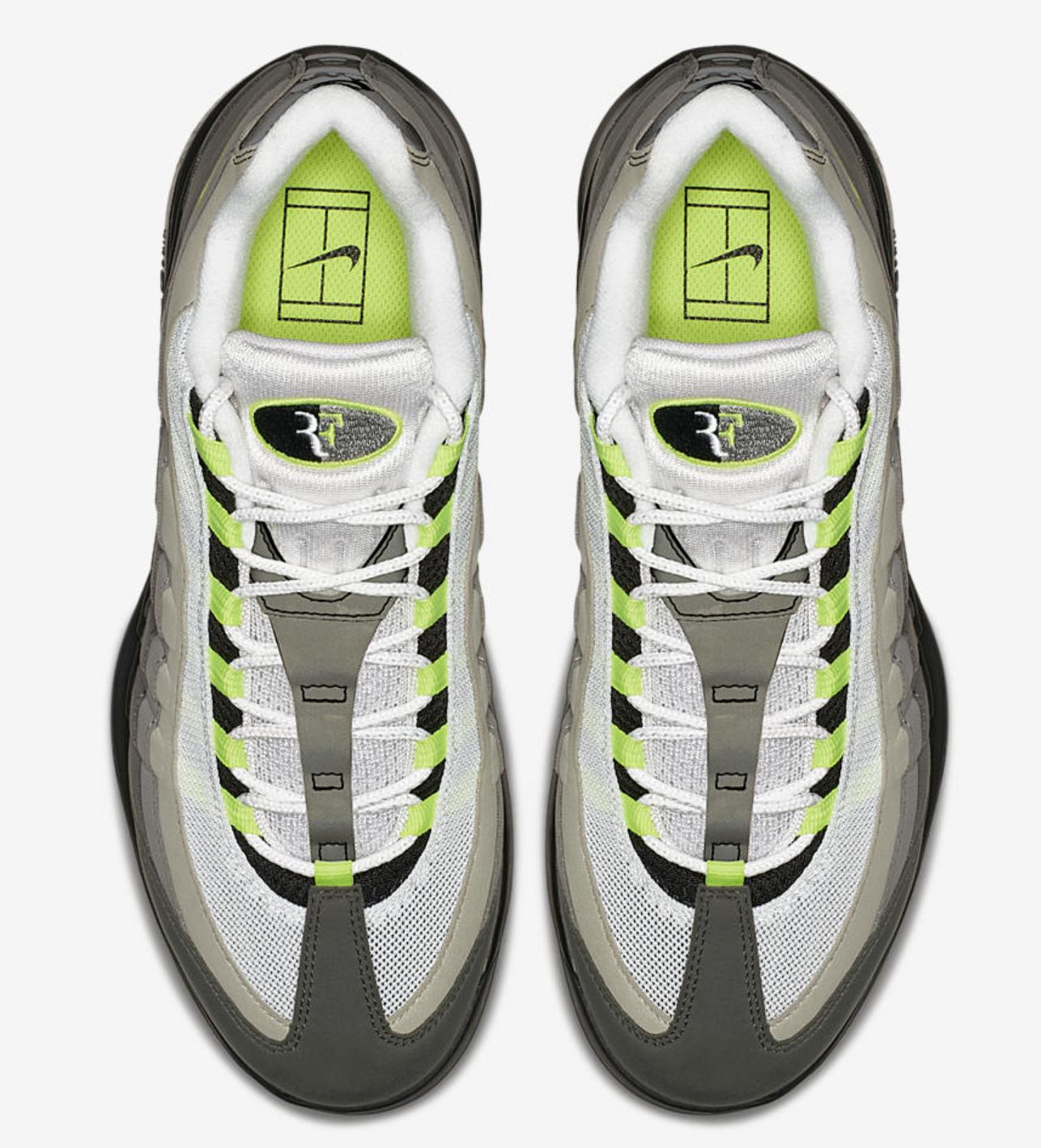NikeCourt Vapor RF x AM95 Neon