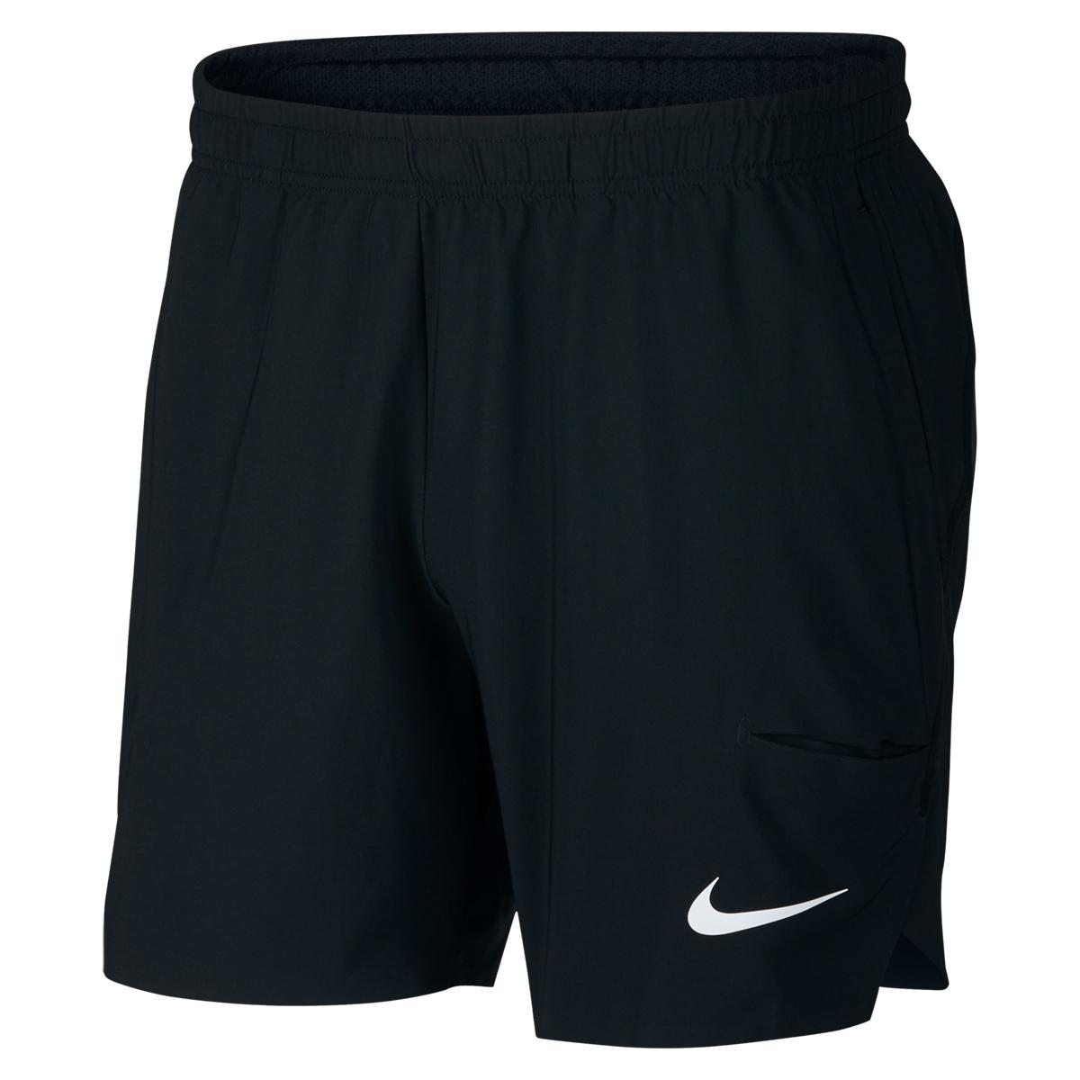 Roger Federer 2018 BNP Paribas Open Indian Wells Short Black - Roger Federer 2018 Indian Wells Nike Outfit