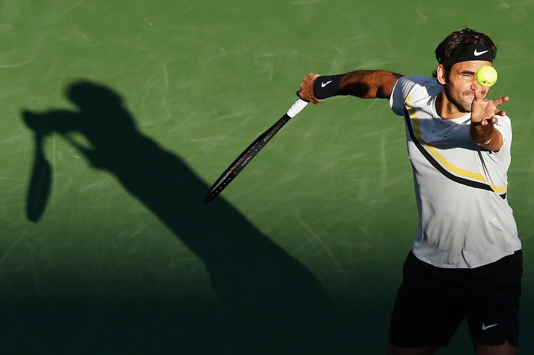Roger Federer 2018 BNP Paribas Open (Indian Wells BNPPO18) - Federer Wins 60th Match at BNP Paribas Open